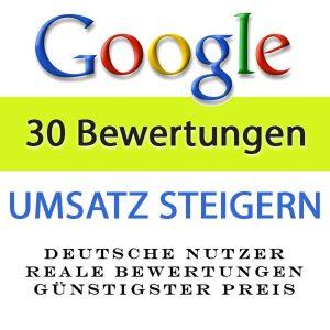 Google Bewertungen kaufen - plus Rezension 30X