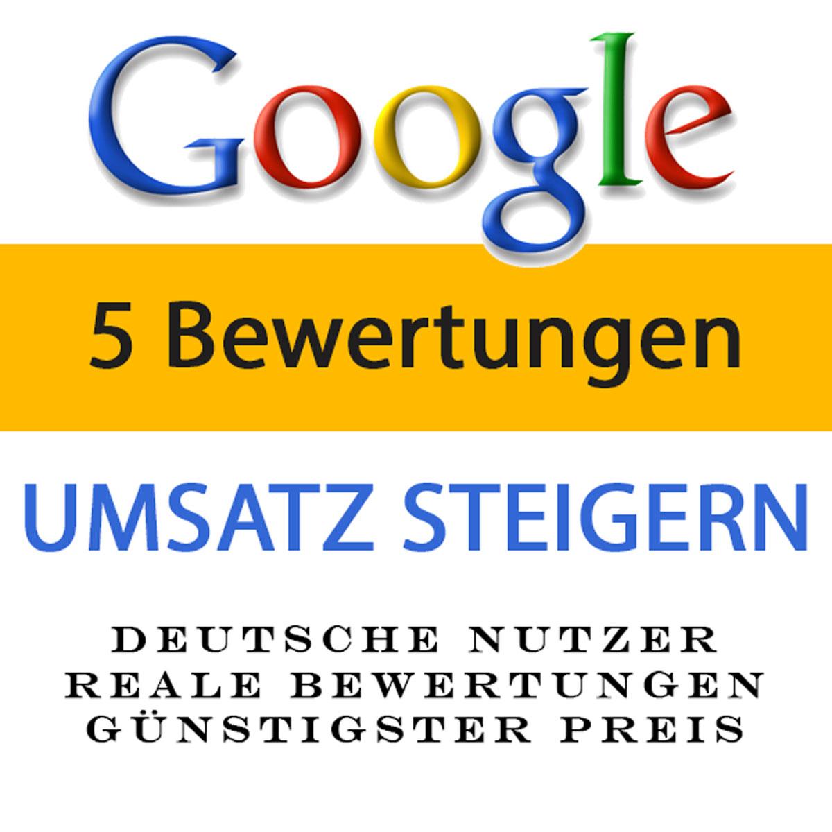 5X 1-5 Sterne Google Bewertungen kaufen - mit Rezension