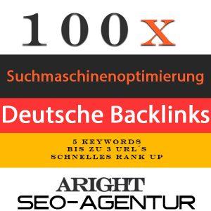 100 Deutsche Backlinks Google Suchmaschinenoptimierung